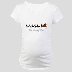 Landseer Sleigh - Your Text Maternity T-Shirt