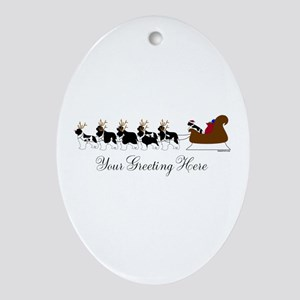 Landseer Sleigh - Your Text Ornament (Oval)