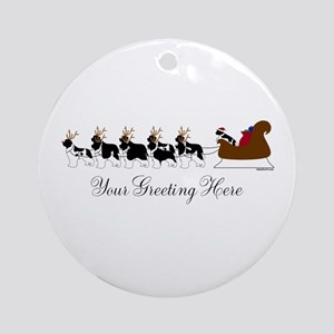 Landseer Sleigh - Your Text Ornament (Round)