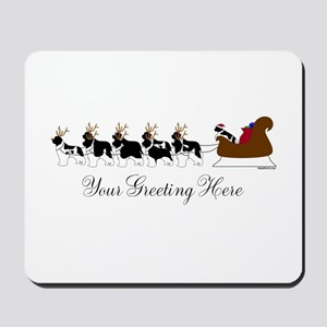 Landseer Sleigh - Your Text Mousepad