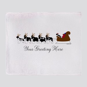 Landseer Sleigh - Your Text Throw Blanket