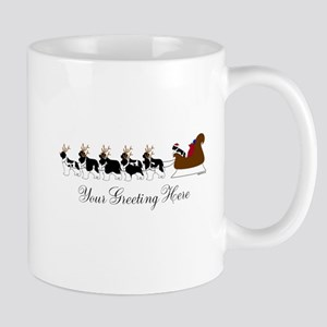 Landseer Sleigh - Your Text Mug