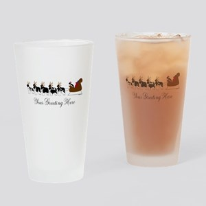 Landseer Sleigh - Your Text Drinking Glass