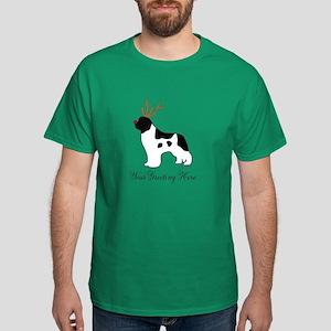 Reindeer Landseer - Your Text Dark T-Shirt