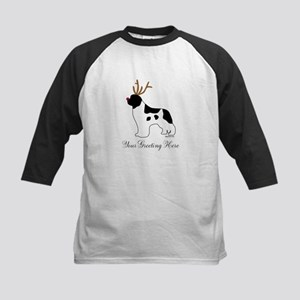 Reindeer Landseer - Your Text Kids Baseball Jersey