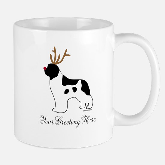 Reindeer Landseer - Your Text Mug