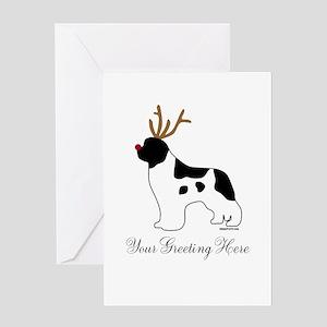 Reindeer Landseer - Your Text Greeting Card