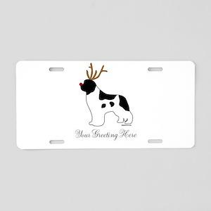 Reindeer Landseer - Your Text Aluminum License Pla