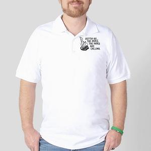 Funny Bagpipes Golf Shirt