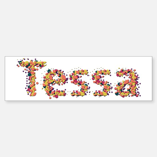 Tessa Fiesta Bumper Car Car Sticker