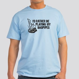 Funny Bagpipes Light T-Shirt