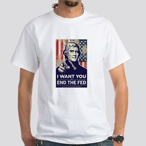 Jefferson End the Fed White T-Shirt