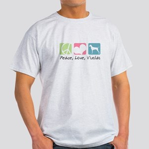 Peace, Love, Vizslas Light T-Shirt
