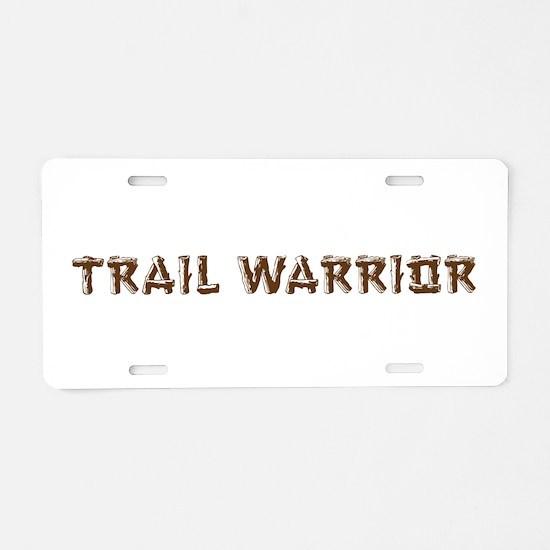 Trail Warrior Aluminum License Plate