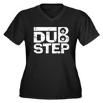 Dubstep Women's Plus Size V-Neck Dark T-Shirt