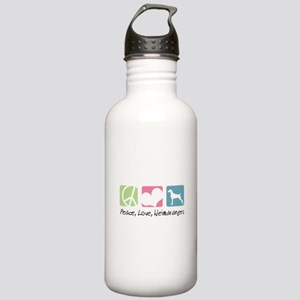 Peace, Love, Weimaraners Stainless Water Bottle 1.