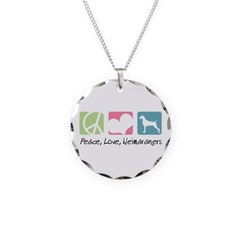 Peace, Love, Weimaraners Necklace