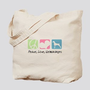 Peace, Love, Weimaraners Tote Bag