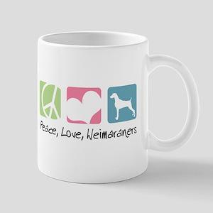 Peace, Love, Weimaraners Mug