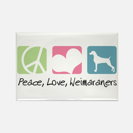 Peace, Love, Weimaraners Rectangle Magnet (100 pac