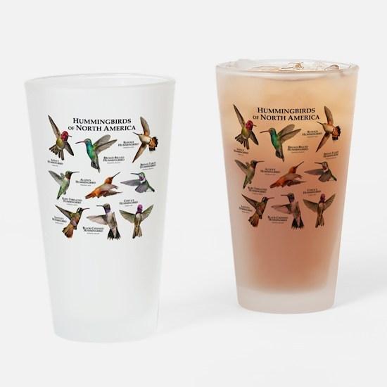 Hummingbirds of North America Drinking Glass