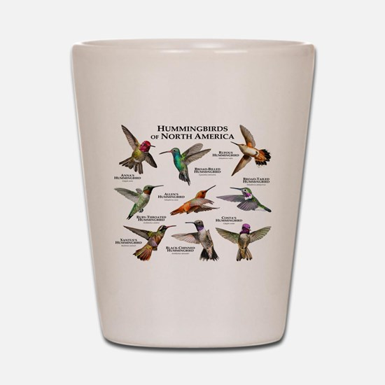 Hummingbirds of North America Shot Glass