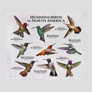 Hummingbirds of North America Throw Blanket