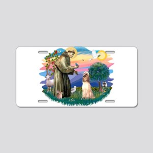 St.Francis #2/ Afghan Hound Aluminum License Plate