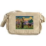 Saint Francis & Airedale Messenger Bag