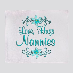 Hugs Nannies Throw Blanket