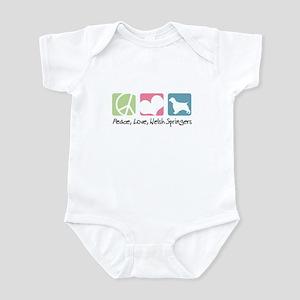 Peace, Love, Welsh Springers Infant Bodysuit
