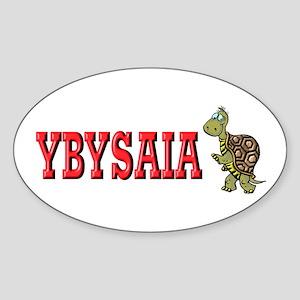Walking Turtle YBYSAIA Oval Sticker