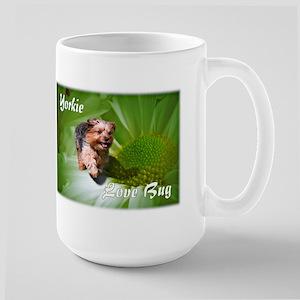 Yorkie Love Bug Large Mug