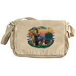 St.Francis #2/ Basset Hound Messenger Bag