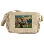 St Francis/Beagle Messenger Bag
