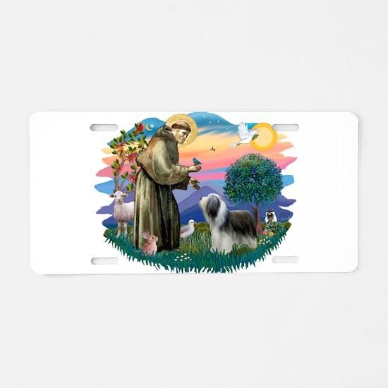St.Francis #2/ Beardie (sw) Aluminum License Plate