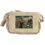 St. Francis & Beardie Messenger Bag