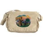 St.Francis #2/ Belgian Shep Messenger Bag