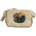 St Francis #2/ Bouvier Messenger Bag