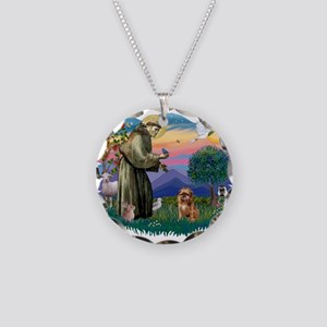 St Francis #2/ Brussels G Necklace Circle Charm