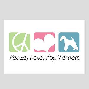 Peace, Love, Fox Terriers Postcards (Package of 8)