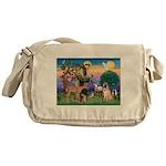 St Francis/Shar Pei #5 Messenger Bag