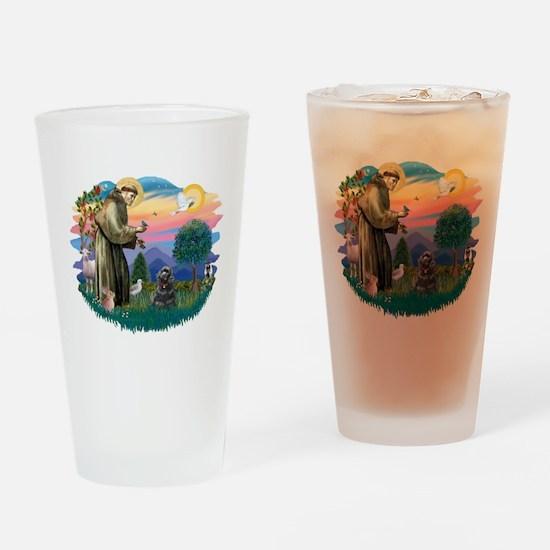 St.Fran #2/ Cocker (black) Drinking Glass