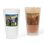 St Francis / Collie Drinking Glass