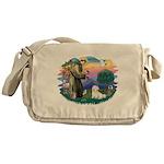 St.Francis #2/ Coton De Tulea Messenger Bag