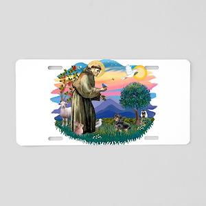 St.Fran #2/ Dachshund (BT) Aluminum License Plate