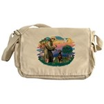 St Francis #2/ Doberman Messenger Bag