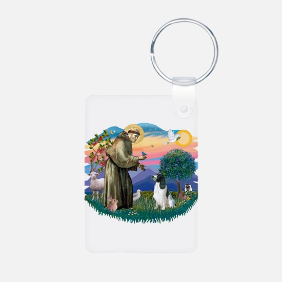 St Francis #2/ Eng Spring Keychains