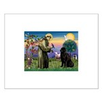 Saint Francis' Newfie Small Poster