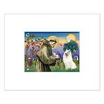 St Francis & Samoyed Small Poster